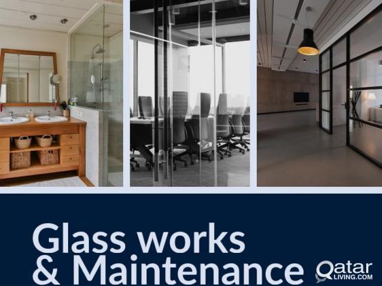 Glass work and Maintenance