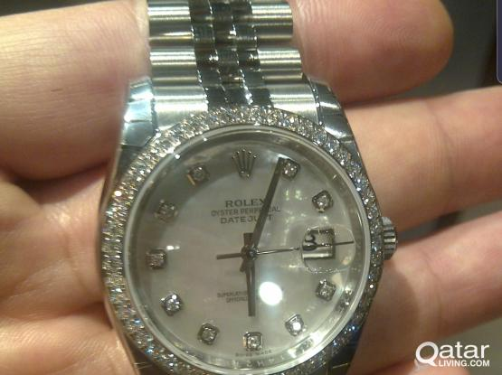 Original Rolex Date Just with MOB Diamond dial and bezel unused