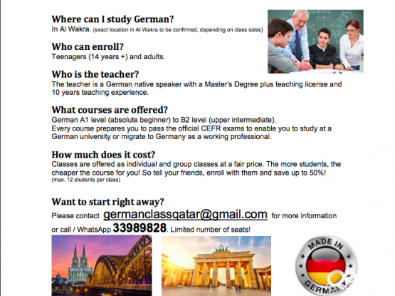 German Class in Al Wakra (A1 - C1 level)