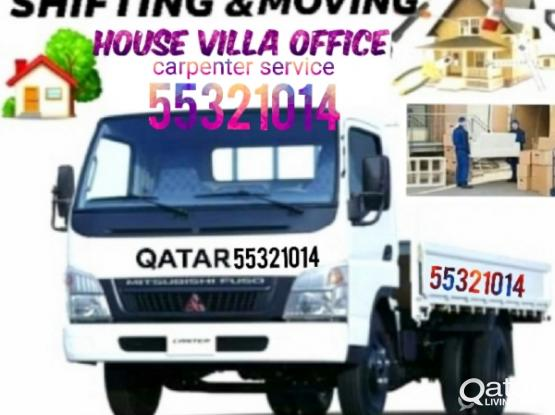 Low price call me 55321014 Shifying and moving service all over Qatar