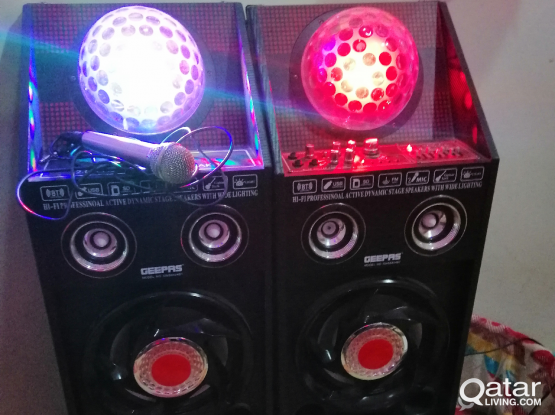 Speakers for sale 2 peices Use only a month