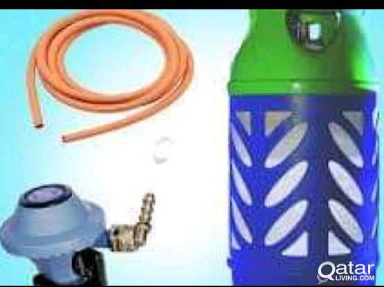 Woqod Gas Cylinder big,with regulator Hose+ stove