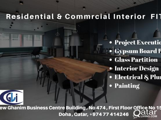 Interior and Fitout Services . Design + Execution