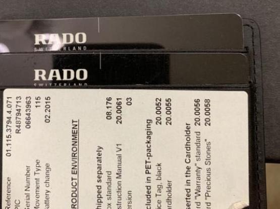 Rado Daimond Watch