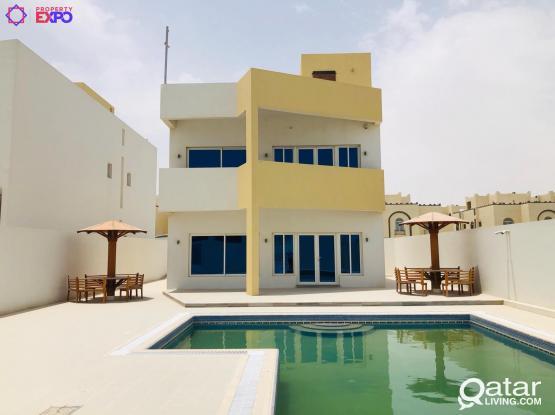 100075 One Month Free!!! 5 BHK Compound Villa at Al Kheesa
