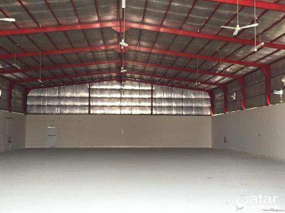 700 SQUARE METER STORE WITH 8 ROOMS CAMP FOR RENT IN INDUSTRIAL AREA