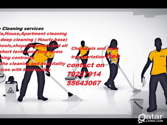House cleaning and Villa deep cleaning