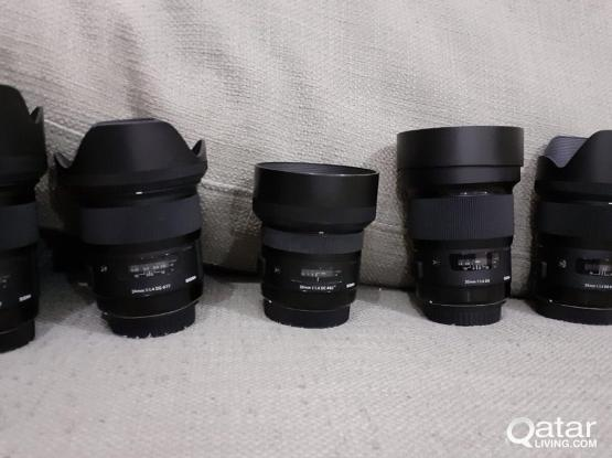 canon Mount sigma art series lenses for sale