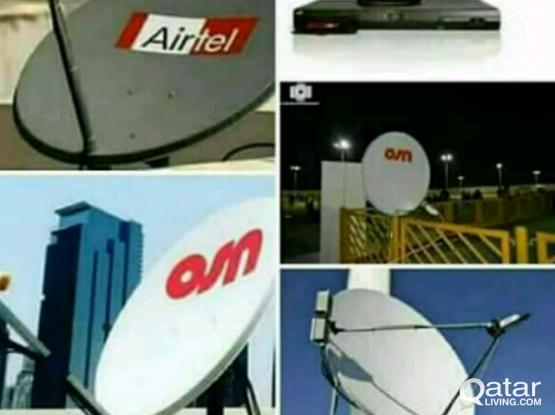 satellite Desh installing