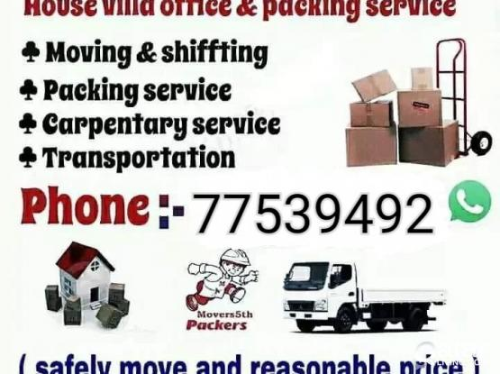 Low price, call:-77539492 Moving,Shifting, Carpenter, A/C servicing