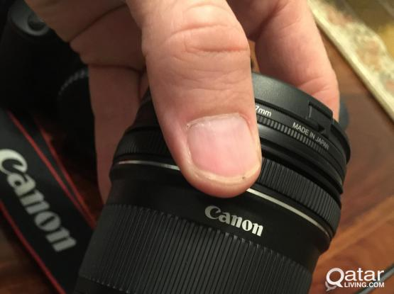 Canon EOS 1100D with 2 lenses and batteries