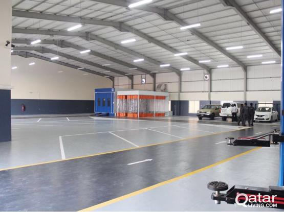 1300 SQUARE METER GRAGE WITH 30 ROOMS CAMP FOR RENT IN INDUSTRIAL AREA