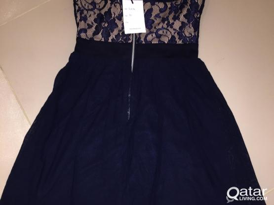 Navy lace sleeveless dress brand new with tags UK size 10