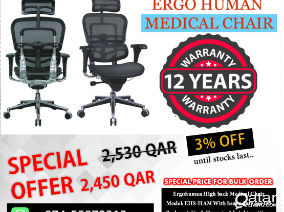 Ergohuman Medical Chair free delivery