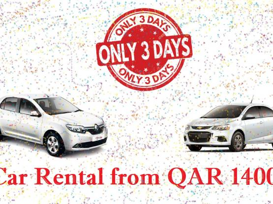 3 Day Offer for Car Rental