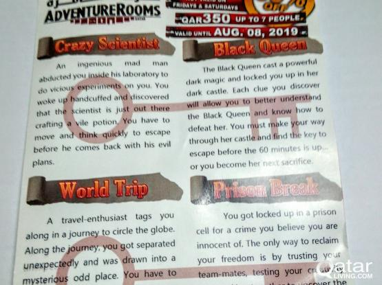 AdventureRooms Qatar voucher
