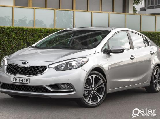 EXPLORE WITH US.GOLDEN OFFER. IN KIA CERATO 2015/16 MODEL CAR AT JUST 1400 QR PER MONTH.
