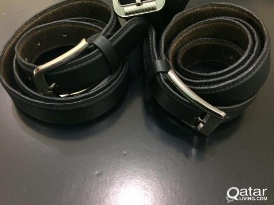 Genuine Leather Belts - Stitched Edges