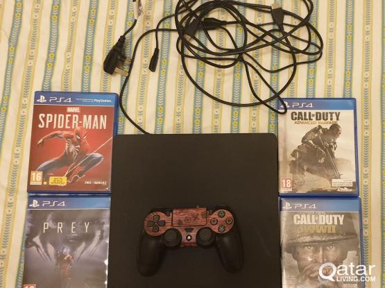 PS4 1TB + console + 4 GAMES