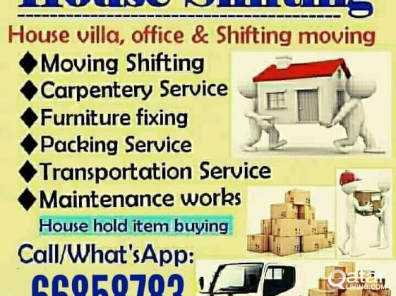 66858783 House,villa,office shifting & moving carpenter pickup service call 66858783
