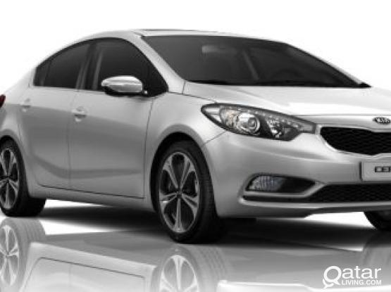 OFFER ON KIA CERATO 2015 MODEL CAR AT JUST 1400 QR PER MONTH.