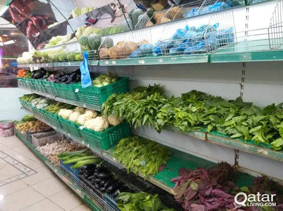VEGETABLE AND FRUITS SHOP FOR SALE