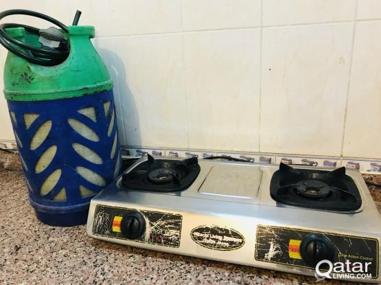 Gas Stove - Hitachi and Gas Cylinder Set 380 fixed price