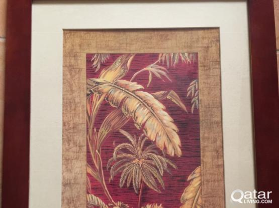 3 wall paintings from home center  for 80 riyal