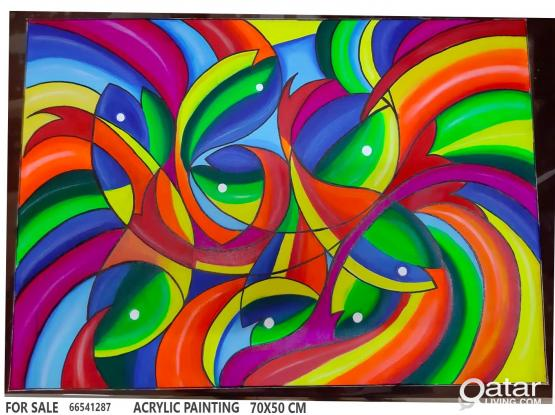 original Acrylic painting for sale 70 x 50 cm