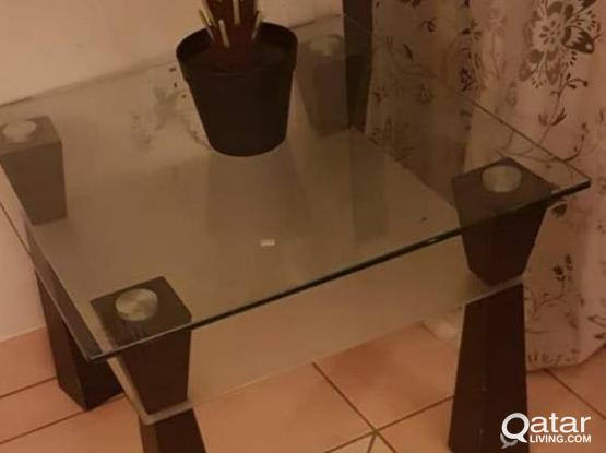 Glass Top Corner/ Side Table