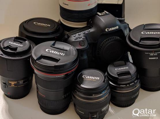 CANON 5D MARK 3, 6D AND 80D CAMERA & MANY LENSES FOR SALE