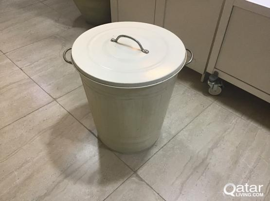 IKEA  trash holder in white color