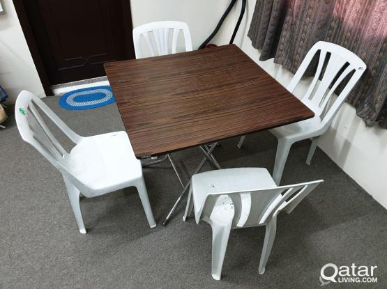 Dinning Folding Table with  4 Chairs