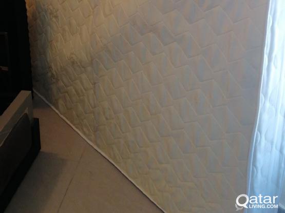 Home center king bed frame + medical mattress Free