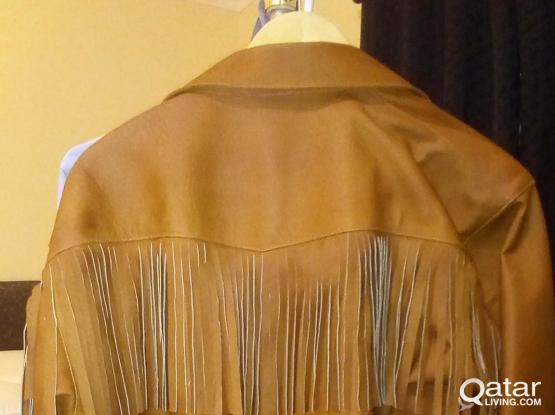 Real Leather Fringe Jacket