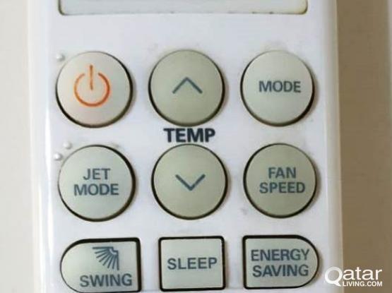 LG AC Remote( Split Ac) for urgent sale QR 50 in Al Wukair