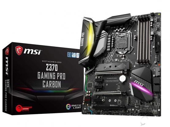 MSI Z370 Gaming Pro Carbon LGA 1151 ATX Motherboard (Intel 9th & 8th Gen CPU)