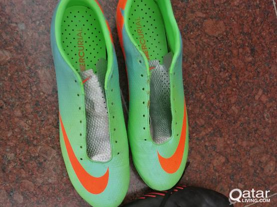Adidas and Nike football shoes