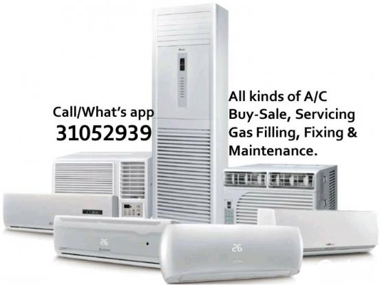 Split and Window A/C Servicing, Repair, Buy-Sale & Maintenance