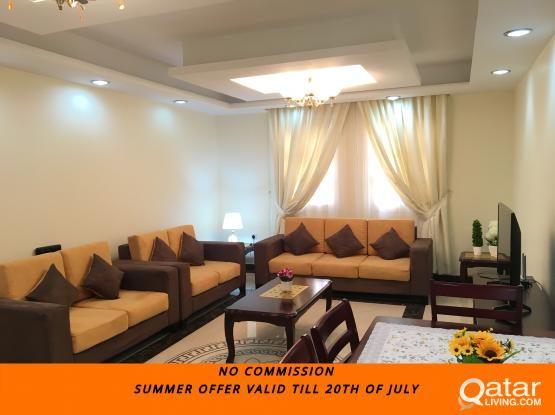 45 days FREE **NO COMMISSION**FULLY FURNISHED 2-BHK APARTMENT IN NAJMA
