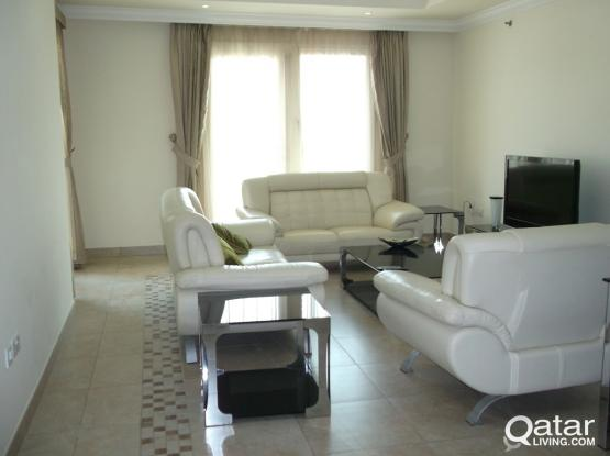 2 BHK FF  SPECIOUS FLAT FOR RENT IN THE PEARL (PORTO ARABIA)