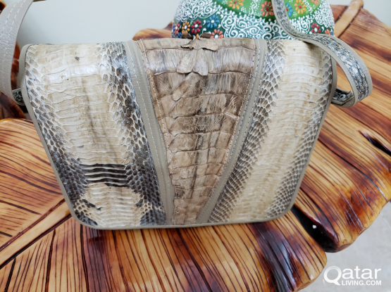 Authentic Crocodile leather purse