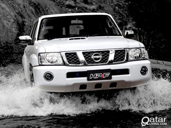 MEGA OFFER TO NISSAN PATROL 2016 AND 2018 JUST 400 QR PER DAYS BOOKED NOW.