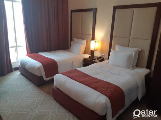 Sharing room for executive bachelor