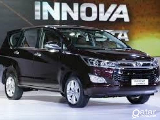 TOYOTA INNOVA 7 SEATER FOR RENT FOR MORE DETAILS 4415 4467