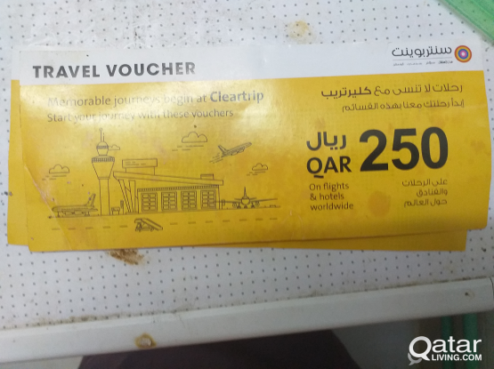 Clear trip travel voucher worth 250  just for 49
