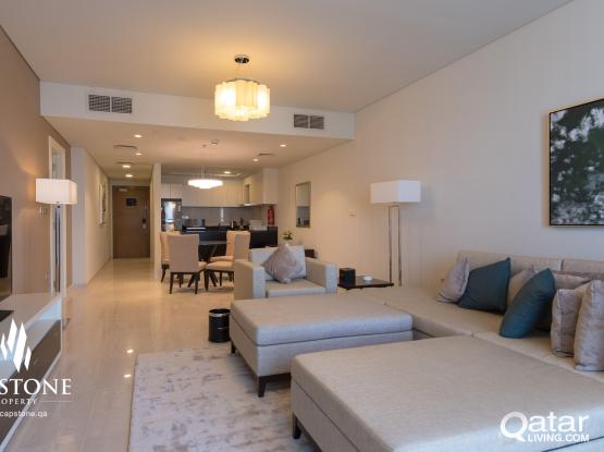 FREE 1 MONTH! 1BR FF Apartment in Lusail
