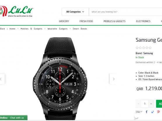 WONDERFUL Samsung Gear S3 Frontier  Smartwatch, Sale
