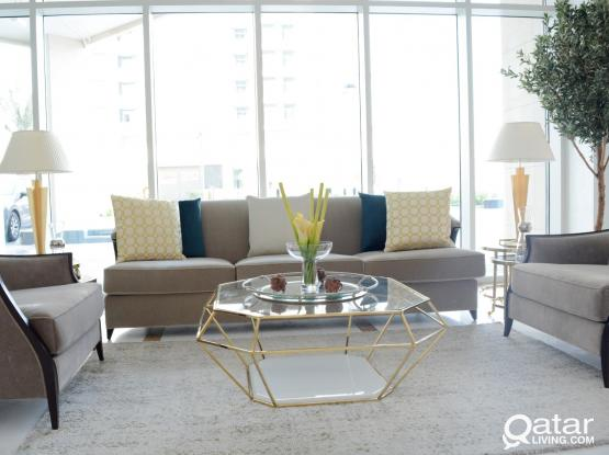 100174 Brand New Luxury Fully Furnished 3 BHK Apartment Rent in Lusail