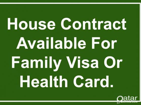 66677952- 100% Guarantee House Contract For Family Visa/Health Card With Baladiya Attestion.
